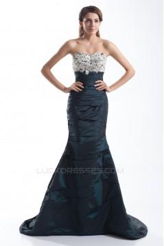 Trumpet/Mermaid Beading Sleeveless Taffeta Soft Sweetheart Prom/Formal Evening Dresses 02020677