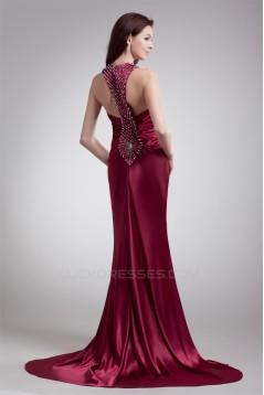 Beading Straps Mermaid/Trumpet Puddle Train Prom/Formal Evening Dresses 02020681