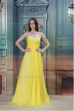 Beading Sweetheart A-Line Brush Sweep Train Prom/Formal Evening Dresses 02020682