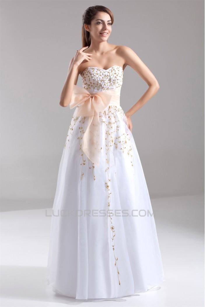 Beading Sweetheart Satin Organza Floor-Length Prom/Formal Evening Dresses 02020686
