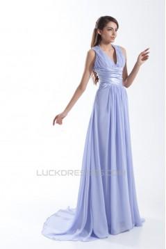 Brush Sweep Train Chiffon Prom/Formal Evening Dresses 02020689