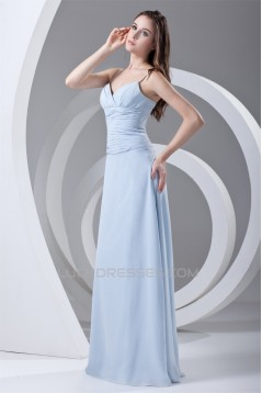 Brush Sweep Train Sheath/Column Spaghetti Straps Prom/Formal Evening Dresses 02020690