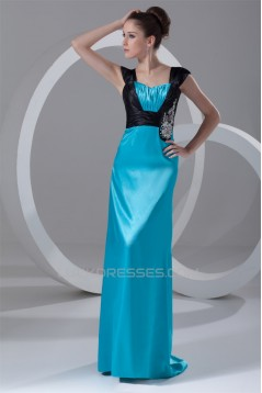 Brush Sweep Train Sleeveless Straps Sheath/Column Prom/Formal Evening Dresses 02020692