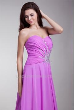 A-Line Sweetheart Beaded Pleats Long Purple Prom/Formal Evening Dresses 02020698