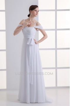 Chiffon Bows Floor-Length Prom/Formal Evening Bridesmaid Dresses 02020701
