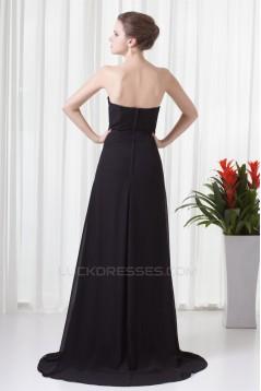 Chiffon Brush Sweep Train Prom/Formal Evening Bridesmaid Dresses 02020702