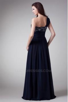A-Line One-Shoulder Chiffon Floor-Length Prom/Formal Evening Dresses 02020703