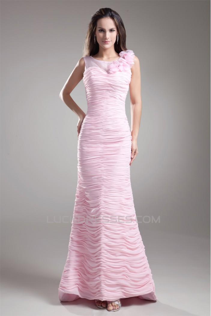 Chiffon Organza Silk like Satin Handmade Flowers Prom/Formal Evening Dresses 02020709