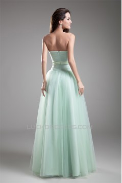 A-Line Elastic Woven Satin Fine Netting Prom/Formal Evening Dresses 02020720