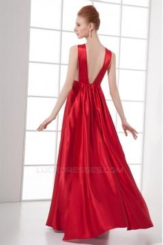Elastic Woven Satin Floor-Length Scoop Sleeveless Prom/Formal Evening Dresses 02020721
