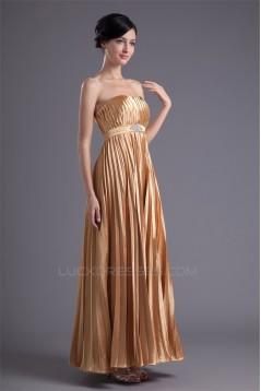Elastic Woven Satin Sheath/Column Strapless Prom/Formal Evening Dresses 02020724