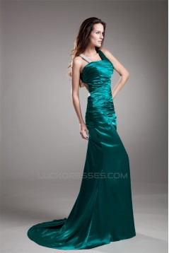 Elastic Woven Satin Sleeveless Mermaid/Trumpet Prom/Formal Evening Dresses 02020727
