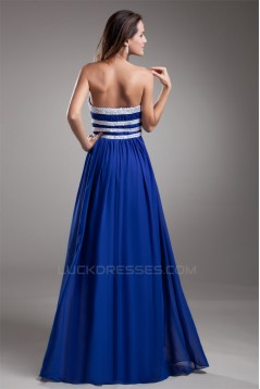 Floor-Length A-Line Strapless Chiffon Silk like Satin Prom/Formal Evening Dresses 02020729