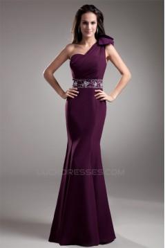 Trumpet/Mermaid Beading One-Shoulder Chiffon Prom/Formal Evening Dresses 02020730