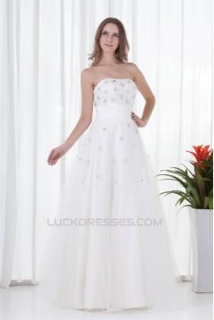 Floor-Length Beading Satin Netting Strapless Prom/Formal Evening Dresses 02020731