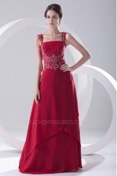 Floor-Length Beading Sleeveless Square Chiffon Prom/Formal Evening Dresses 02020734