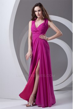 Floor-Length Chiffon Prom/Formal Evening Bridesmaid Dresses 02020735