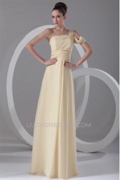 A-Line Floor-Length Chiffon One-Shoulder Prom/Formal Evening Dresses 02020737