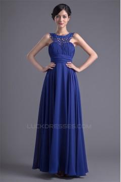 Floor-Length Chiffon Silk like Satin Sleeveless Prom/Formal Evening Dresses 02020740