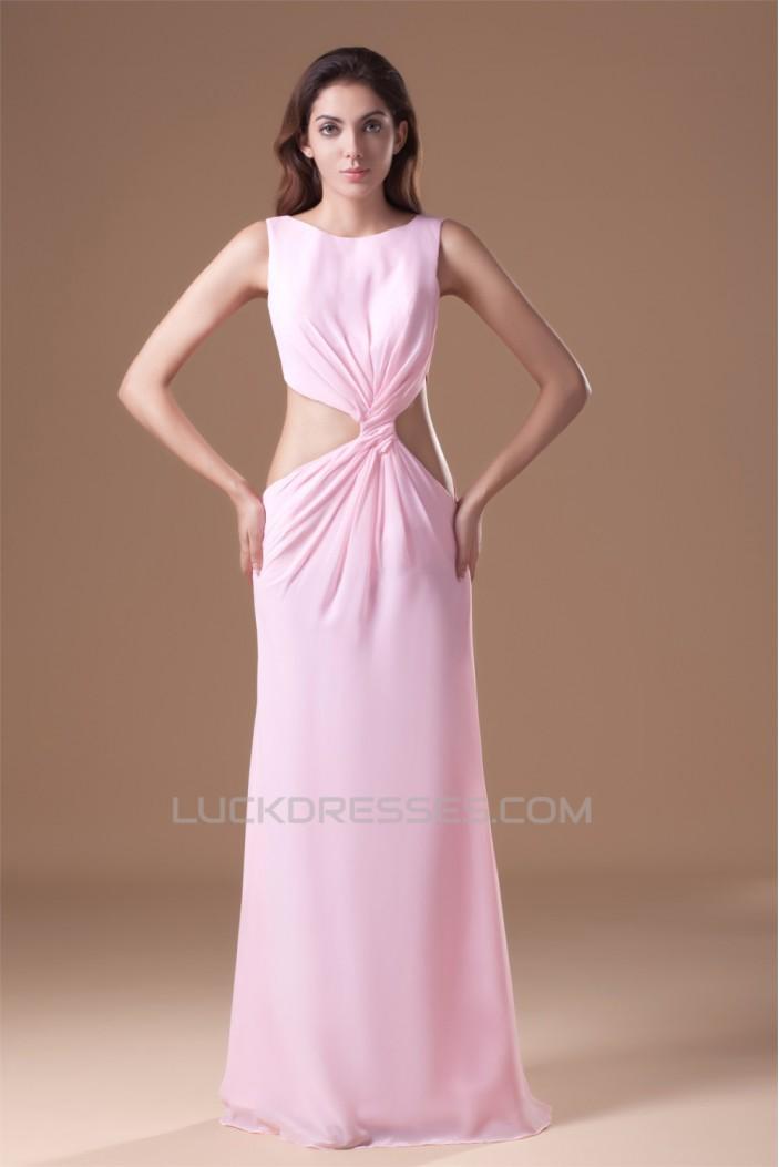 Floor-Length Criss Cross Chiffon Prom/Formal Evening Dresses 02020742