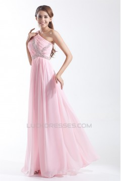 Floor-Length One-Shoulder Beading Sheath/Column Prom/Formal Evening Dresses 02020745