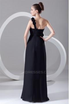 Floor-Length Sheath/Column Chiffon Prom/Formal Evening Bridesmaid Dresses 02020751