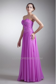 Floor-Length Sheath/Column Sleeveless Chiffon Prom/Formal Evening Dresses 02020753