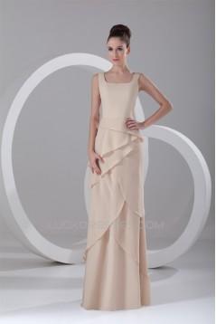 Sheath/Column Floor-Length Square Chiffon Prom/Formal Evening Dresses 02020755
