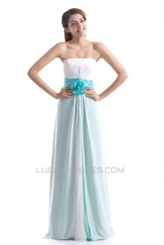 Floor-Length Sleeveless Handmade Flowers Prom/Formal Evening Bridesmaid Dresses 02020758
