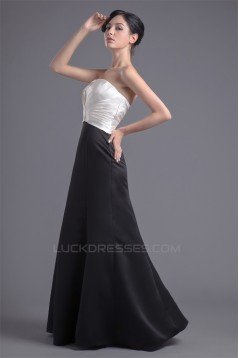 Floor-Length Sleeveless Strapless Pleats Prom/Formal Evening Bridesmaid Dresses 02020759