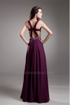 A-Line Floor-Length V-Neck Sleeveless Beading Prom/Formal Evening Dresses02020763