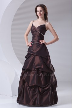 Floor-Length V-Neck Sleeveless Beading A-Line Prom/Formal Evening Dresses 02020764