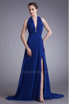A-Line Halter Sleeveless Chiffon Prom/Formal Evening Dresses 02020767