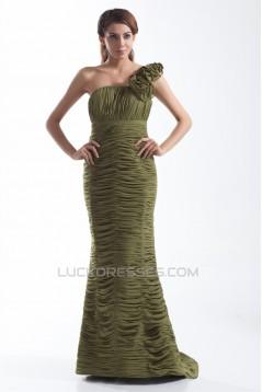 Mermaid/Trumpet Chiffon Silk like Satin Prom/Formal Evening Dresses 02020773