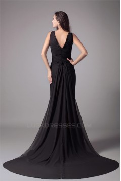 Mermaid/Trumpet Sleeveless V-Neck Beading Prom/Formal Evening Dresses 02020778