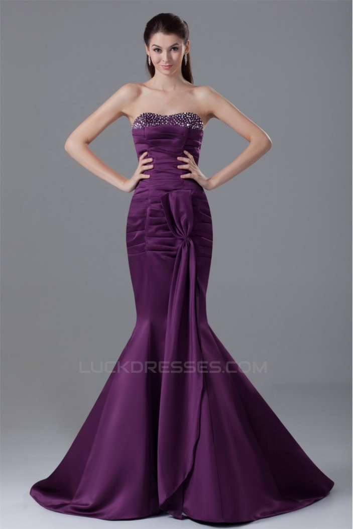 Mermaid/Trumpet Sweetheart Pleats Sleeveless Prom/Formal Evening Dresses 02020780
