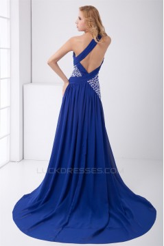 One-Shoulder Beading A-Line Chiffon Prom/Formal Evening Dresses 02020783