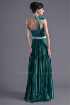 One-Shoulder Floor-Length Elastic Woven Satin Prom/Formal Evening Dresses 02020787