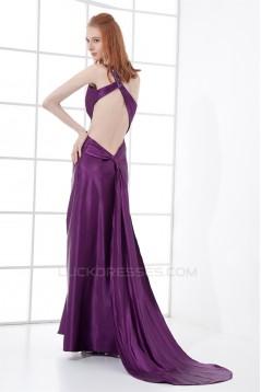 Asymmetrical One-Shoulder Pleats Sleeveless Prom/Formal Evening Dresses 02020790