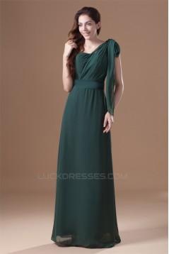 One-Shoulder Ruffles Sheath/Column Floor-Length Prom/Formal Evening Bridesmaid Dresses 02020792