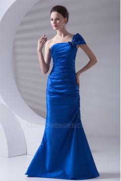 One-Shoulder Sleeveless Brush Sweep Train Prom/Formal Evening Dresses 02020795
