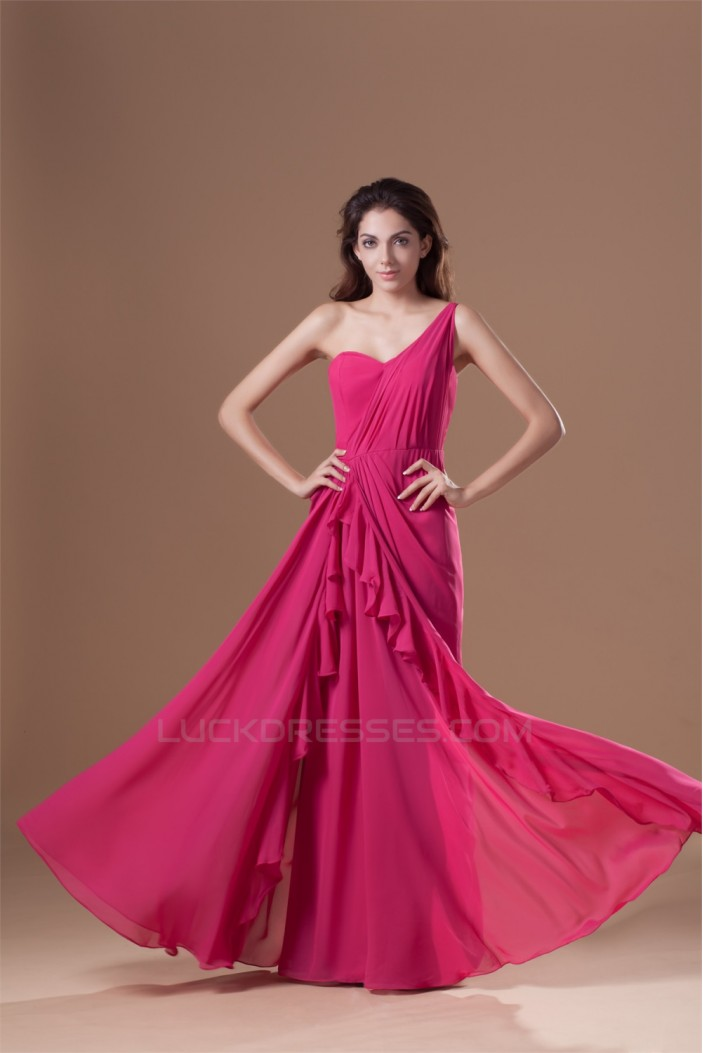 One-Shoulder Sleeveless Chiffon Prom/Formal Evening Dresses 02020796