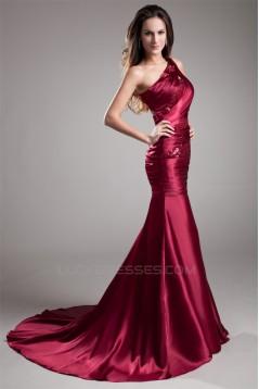 Mermaid/Trumpet One-Shoulder Pleats Sequins Prom/Formal Evening Dresses 02020798