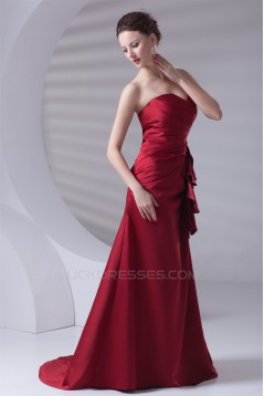 A-Line Brush Sweep Train Prom/Formal Evening Dresses 02020801
