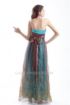 Organza Silk like Satin Pleats Strapless Prom/Formal Evening Dresses 02020802