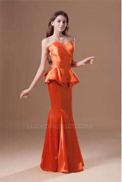 Pleats Mermaid/Trumpet Elastic Woven Satin Prom/Formal Evening Dresses 02020806