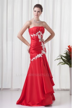 Pleats Mermaid/Trumpet Sleeveless Strapless Prom/Formal Evening Dresses 02020807
