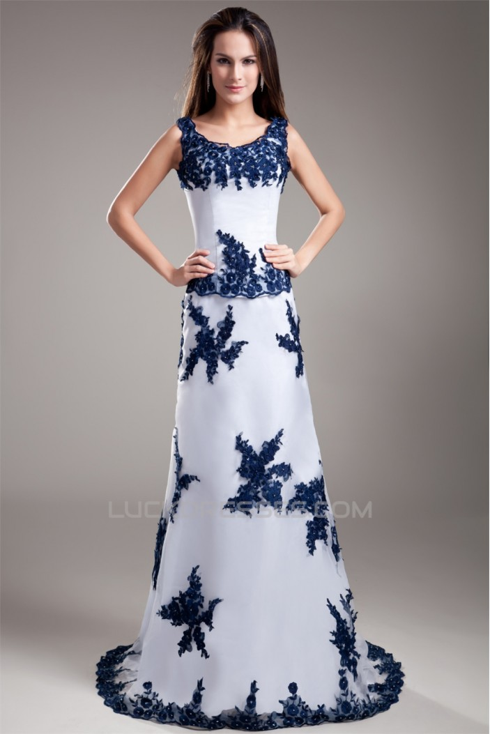 Puddle Train Scoop Sheath/Column Sleeveless Prom/Formal Evening Dresses 02020812