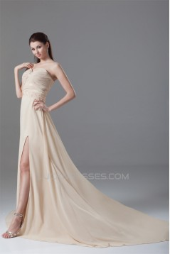 Ruched Sweetheart Sleeveless A-Line Chiffon Elastic Woven Satin Prom/Formal Evening Dresses 02020814