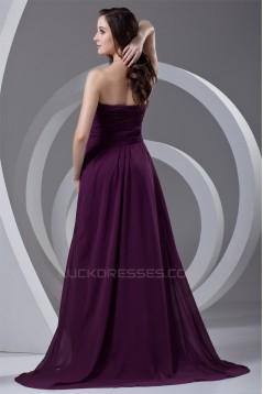 Ruffles Sweetheart A-Line Sleeveless Chiffon Long Purple Prom/Formal Evening Dresses 02020817